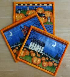 Materialpackung `Mug Rug (8) *Halloween* je ca. 17x15 cm