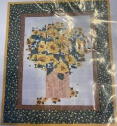 Materialpackung Wallhanging Wandbild *Sonnenblumen* Watercolor Technik