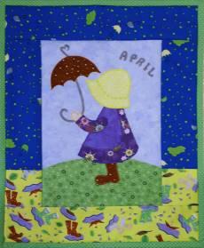 Angebot des Monats April 2021 Materialpackung Wandquilt Monat *April* 28 x 33 cm  MP21-0050