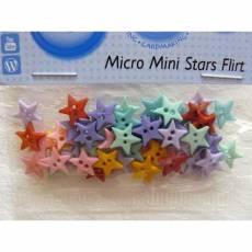 Knopf Packung *Micro Mini Stars Flirt*