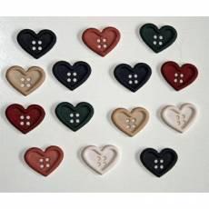 Knopf Packung *Chunky Medium Hearts*