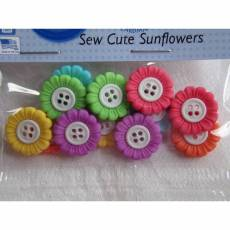 Knopf Packung *Sew Cute Sunflowers*