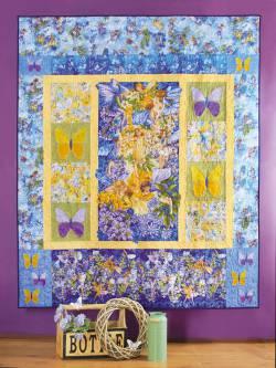 Nähanleitung `Elfen Sommer` Quilt ca. 159x190cm Feen mit Glitzer