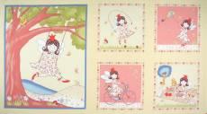 Patchworkstoff Quilt Panel *Lizzy Fay Enjoy*  60x110cm Kleine Elfe spielt draußen