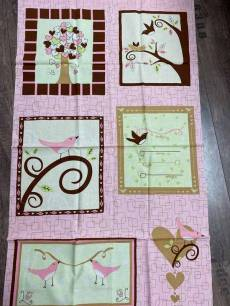 Patchworkstoff Quilt Panel *Chirp!* 60 x 110 cm Vögelchen RK 9798