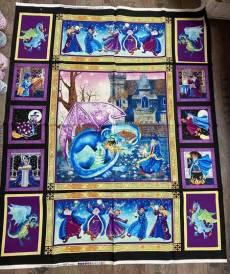 Patchworkstoff Panel Drachen Stoff Merlins Dragons Collier-Morales Studio