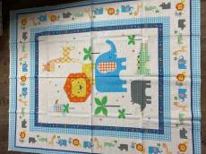 Patchworkstoff Quilt Stoff Panel *Wildtiere*  90x110cm