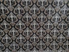Patchworkstoff, *Crosswise* schwarz mit Kreuzen für den Gothic Style