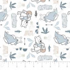 Winnie Puuh / Stoff Winnie Pooh *Blankets and Honey*