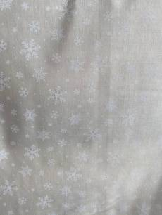 Patchworkstoff Weihnachten *Under the Christmas Tree* Schneeflocken auf creme