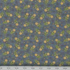 Patchworkstoff Quilt *My Back Porch* Blumen auf grauem Hintergrund