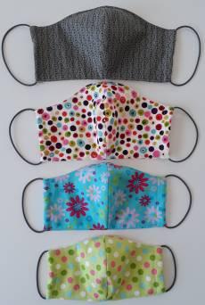 Materialpackung für eine Gesichtsmaske in 4 verschiedenen Größen