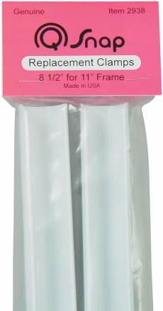 Q-Snap 2 Ersatzklemmen 8 1/2 Inch für 11 Inch Rahmen PVC