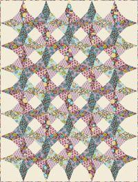 Kostenlose Nähanleitung Quilt Kaleidoscope von Sharon Holland für Paintbrush Studio