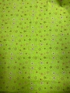 Patchworkstoff in Überbreite(1,45 m) *Maja* Blumen mit Wirbeln auf grün