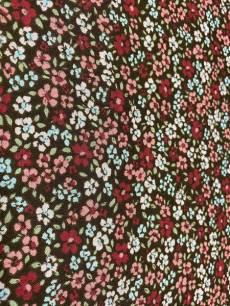 Patchworkstoff Überbreite;Blumen klein gemustert auf braun