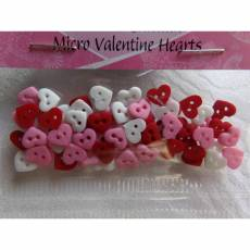 Knopf Packung `Micro Valentines Hearts`  Dress it up