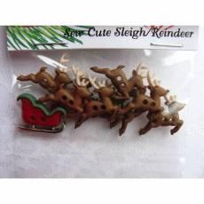 Knopf Packung *Sew Cute Sleigh/Reindeer*