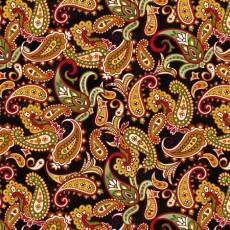 Patchworkstoff Quilt *Autumn is calling* Paisley auf schwarz