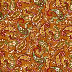 Patchworkstoff Quilt *Autumn is calling* Paisley auf orange