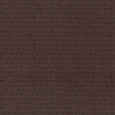 Patchworkstoff Lecien *One Stitch at a time* mit Schriftzug dunkelbraun