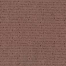Patchworkstoff Lecien *One Stitch at a time* mit Schriftzug braun