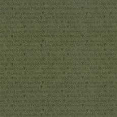 Patchworkstoff Lecien *One Stitch at a time* mit Schriftzug grün