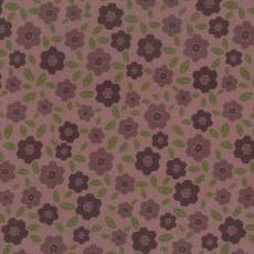 Patchworkstoff Lecien *One Stitch at a time* mit Blumenmuster in rotbraun