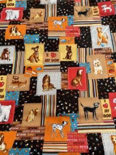 Patchworkstoff Quilt Stoff *Top Dog* Hunde, Dogs