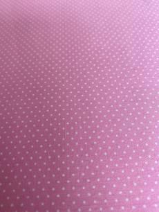 Patchworkstoff Quilt Beistoff Helles Pink / Rosa mit weißen Punkten