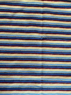 Patchworkstoff Quilt Gestreiftes Muster in rot,blau,schwarz und hellbraun; Rest ca. 0,40 x 1,10 m