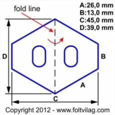 Schablone, Short Hexagon 26mm, 30 Teile
