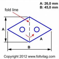 Schablone Template Diamond Rhombus Raute 26mm 30 Teile Rh 30