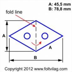 Schablone Template Diamond Rhombus Raute 45 mm 16 Teile  Rh 16