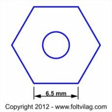 Schablone Template Hexagon 6,5mm Sechseck 56 Teile HX 56