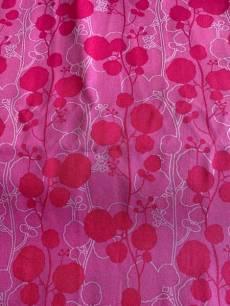 Baumwollstoff, Stoff, Quilt Rosa mit Blumenmuster Reststück ca. 26 cm x 110 cm