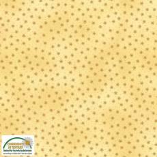 Patchworkstoff Stoff Quilt *Basic Twist* Sternchen auf Goldgelb