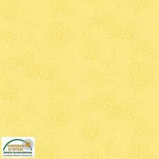 Patchworkstoff Stoff Quilt *Basic Twist* Gelb gepunktet (Blumenmuster leicht) Stoffabschnitt