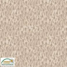 Patchworkstoff Stoff Quilt *Basic Twist* Braun/Beige mit Blumen und Ranken Stoffabschnitt 50x110cm