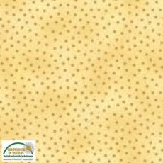 Patchworkstoff Stoff Quilt *Basic Twist* Goldgelber Stoff mit Sternchen Stoffabschnitt 50x110cm