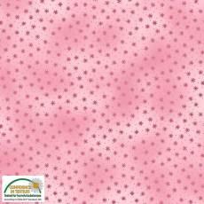 Patchworkstoff Stoff Quilt *Basic Twist* Hellrosa mit Sternchen Stoffabschnitt