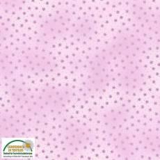 Patchworkstoff Stoff Quilt *Basic Twist* pink-violett mit Sternchen Stoffabschnitt 4513-516