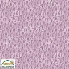 Patchworkstoff Stoff Quilt *Basic Twist* Lila mit Blumen und Ranken Stoffabschnitt