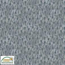 Patchworkstoff Stoff Quilt *Basic Twist* Grau mit Blumen; Stoffabschnitt
