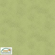 Patchworkstoff Stoff Quilt *Basic Twist* Grün gemustert (gepunktet, Blume) Stoffabschnitt