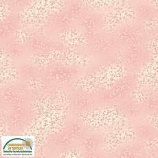 Patchworkstoff Stoff Quilt *Basic Twist* Rosabraun mit Blumenranken Stoffabschnitt ca. 50x110cm