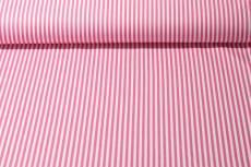 Patchworkstoff  Rosa/weiß gestreift Stoffabschnitt ca. 0,50 x 1,10 m