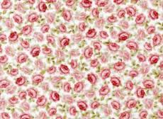 Patchworkstoff Quilt Stoff *Sarah´s Collection* Kleine rosafarbene Rosen verstreut