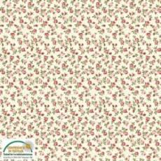 Patchworkstoff Quilt Stoff *Arabella* Klein geblümte, rosafarbene Rosen