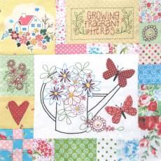BOM - Down in the Garden - Block 4 - Leanne Beasley Nähanleitung in Englisch und Inch